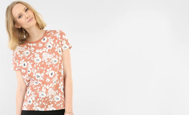 T-shirt a fiori rosa