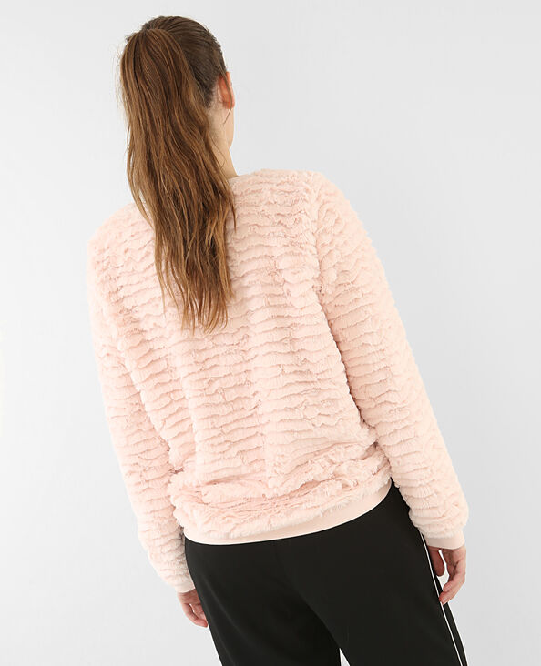 Flauschiges Sweatshirt Rosa