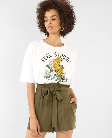 T-shirt om vast te knopen wit