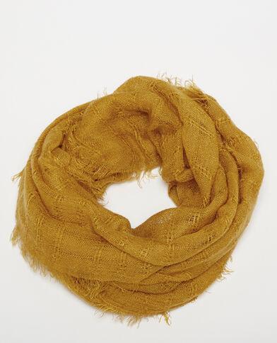 Foulard sottile giallo mostarda