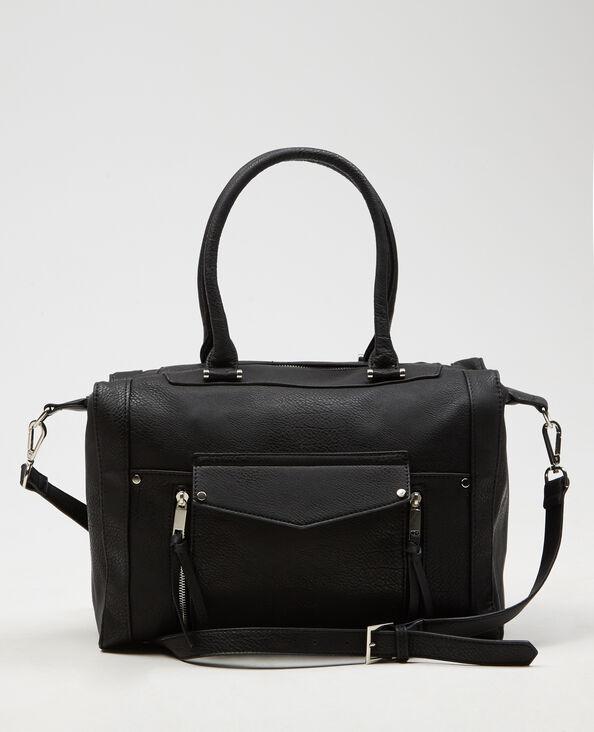 Einkaufstasche mit Reißverschluss Schwarz