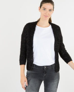 Gilet court brillant noir