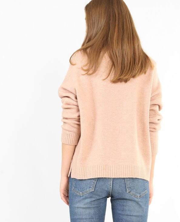 Pullover mit Perlen Rosa