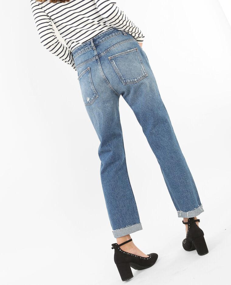 Jeans mom destroy azul vaquero