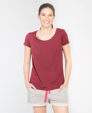 - Camiseta de manga corta rojo