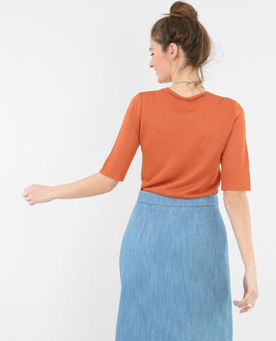 Pull sottile lurex Rosso