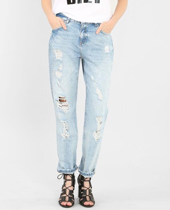 Jeans boyfit blu