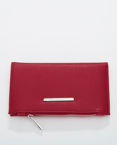 Portefeuille plat rouge