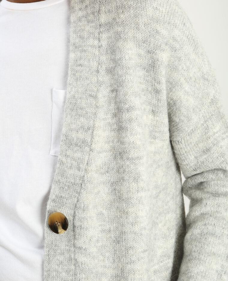 Chaleco gris jaspeado