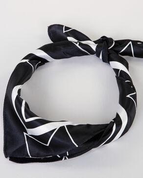 Bandana satiné noir/blanc noir