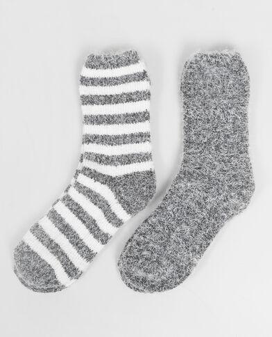 Lot de chaussettes épaisses gris