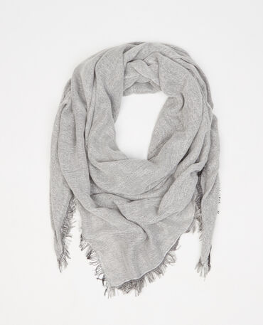 Foulard double face lurex nero