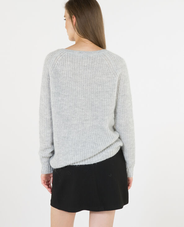 Pull mohair grigio chiné