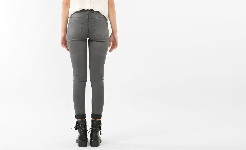 Jeggings basic grigio
