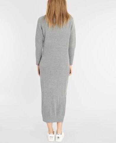 Vestido jersey asimétrico grigio