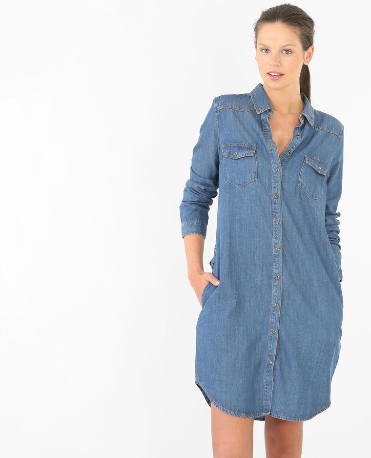 robe chemise denim 780472682a06 pimkie. Black Bedroom Furniture Sets. Home Design Ideas