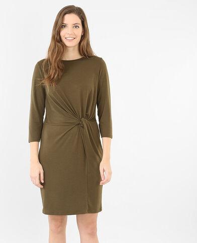 Kleid mit Schleife Khaki