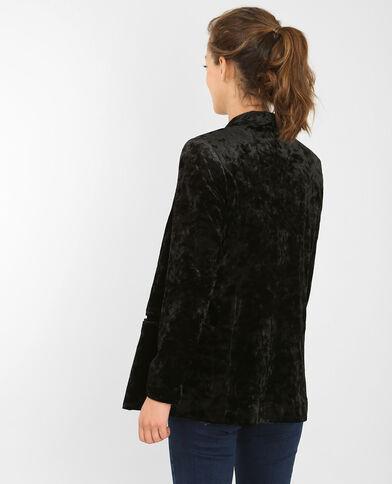 Veste blazer velours noir