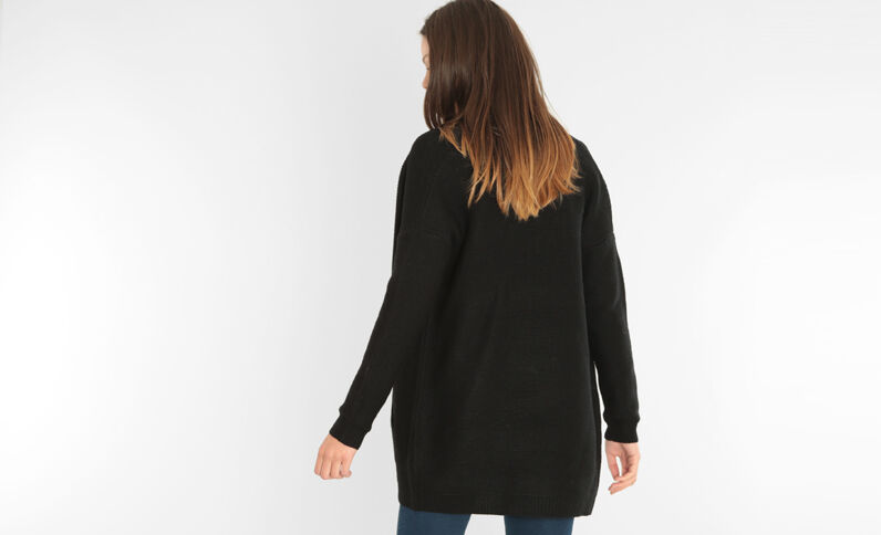 Cardigan media lunghezza nero