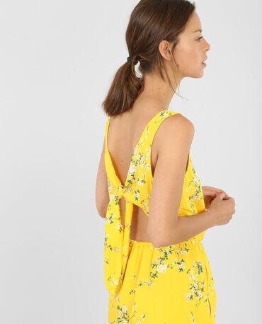 Mono corto espalda abierta amarillo