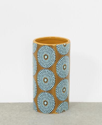 Vase mit Mustern Weiß