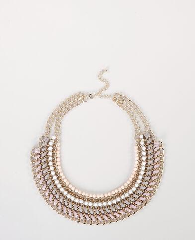 Plastron-Halskette Gold