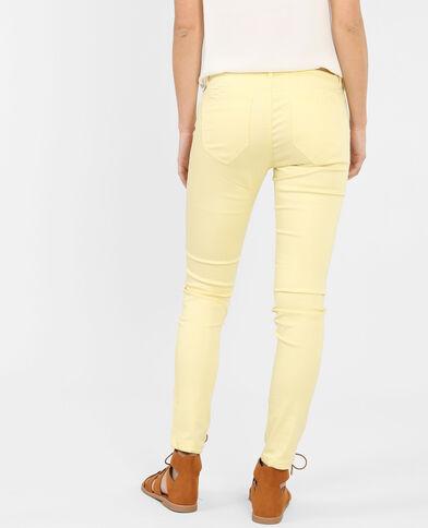 Pantalone skinny giallo pallido