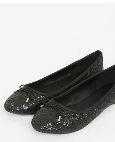 Bailarinas con glitter negro