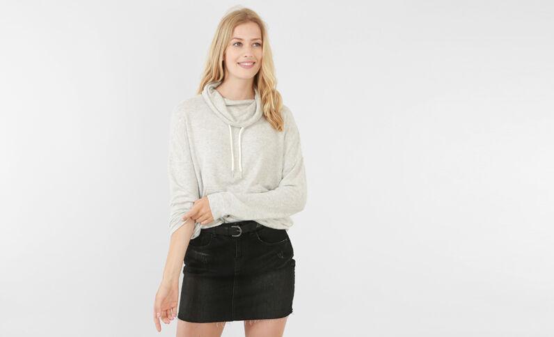 Sweatshirt mit Stehkragen Grau