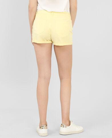 Short plissé jaune