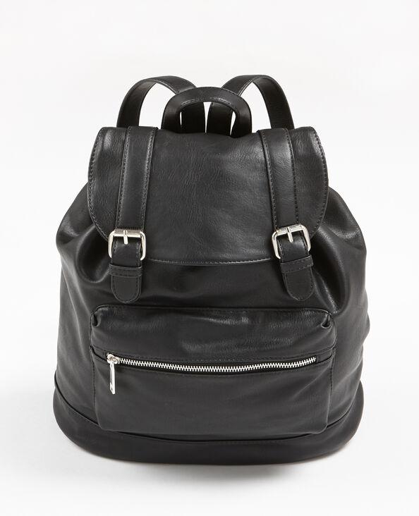 Rucksack aus Kunstleder Schwarz