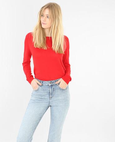 Leichter, einfacher Pullover Rot