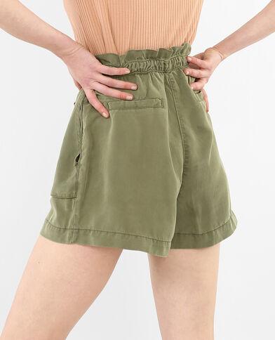 Shorts de talle alto vaporoso verde