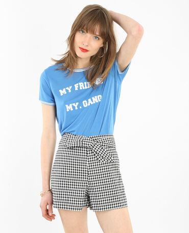 T-Shirt mit Schriftzug Blau