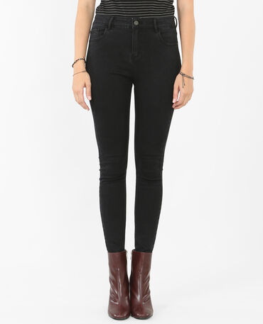 Jeggings 7/8 a vita alta nero