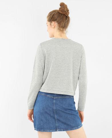 Besticktes Sweatshirt Grau