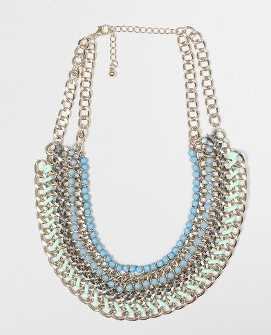 Plastron-Halskette Grün