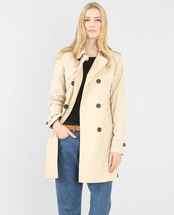 Trench femme beige ficelle