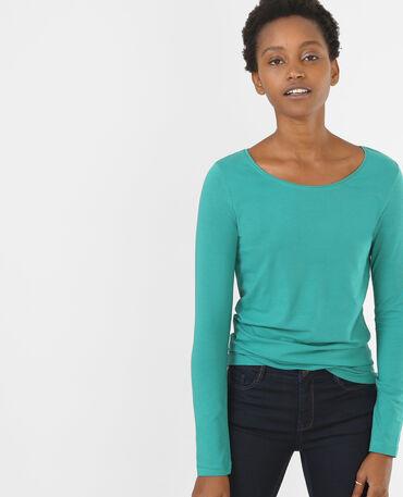 T-shirt basique vert