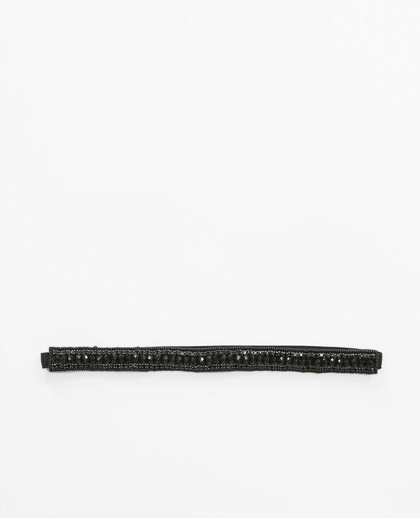 Headband strassé noir