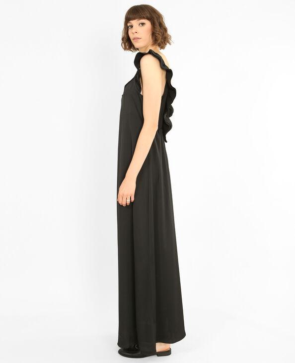 Vestido largo satinado negro