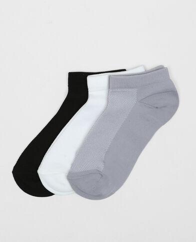 Lote de calcetines tobilleros técnicos negro