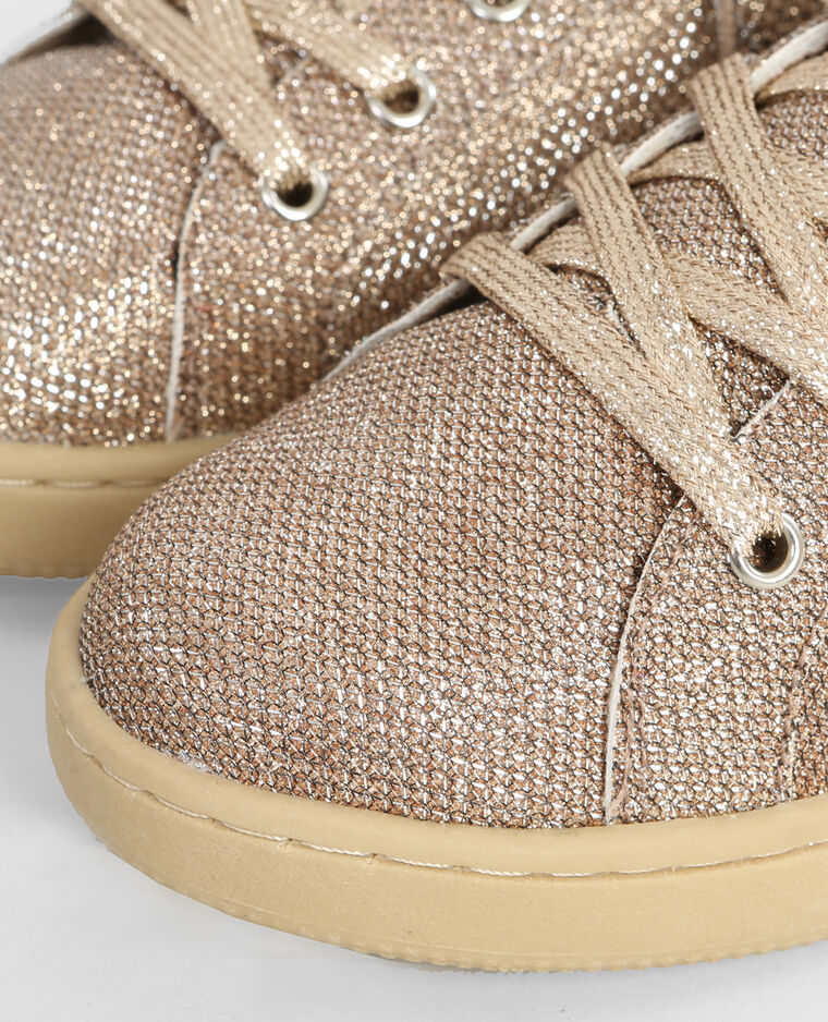 Baskets glitter doré