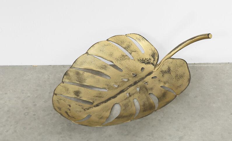 Bladvormige schaal goudkleurig