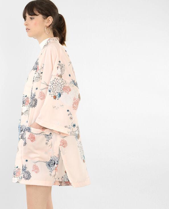 Giacca kimono satinata Rosa