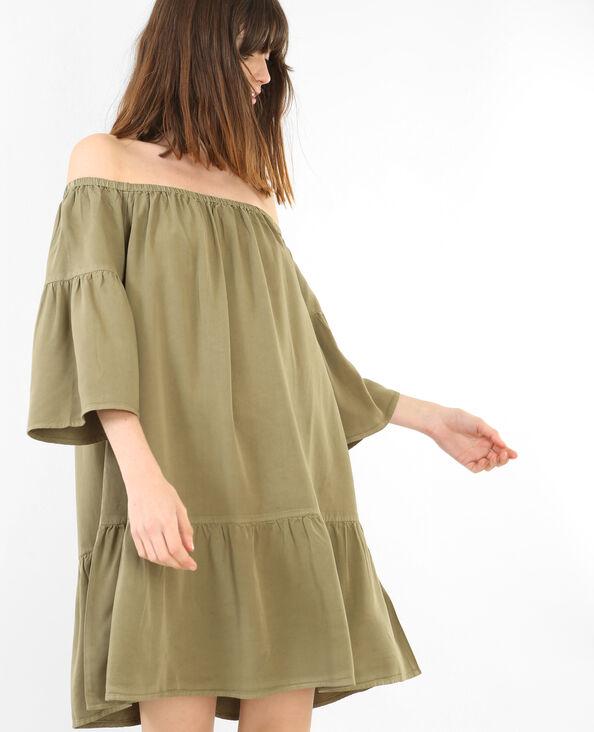 Robe à basque vert