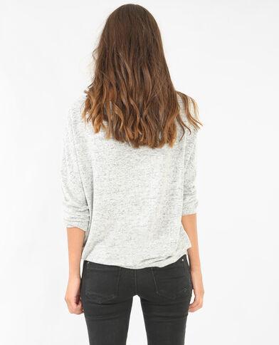 T-Shirt mit U-Boot-Ausschnitt Grau