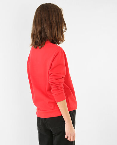 Sweater 'Live long' Rood