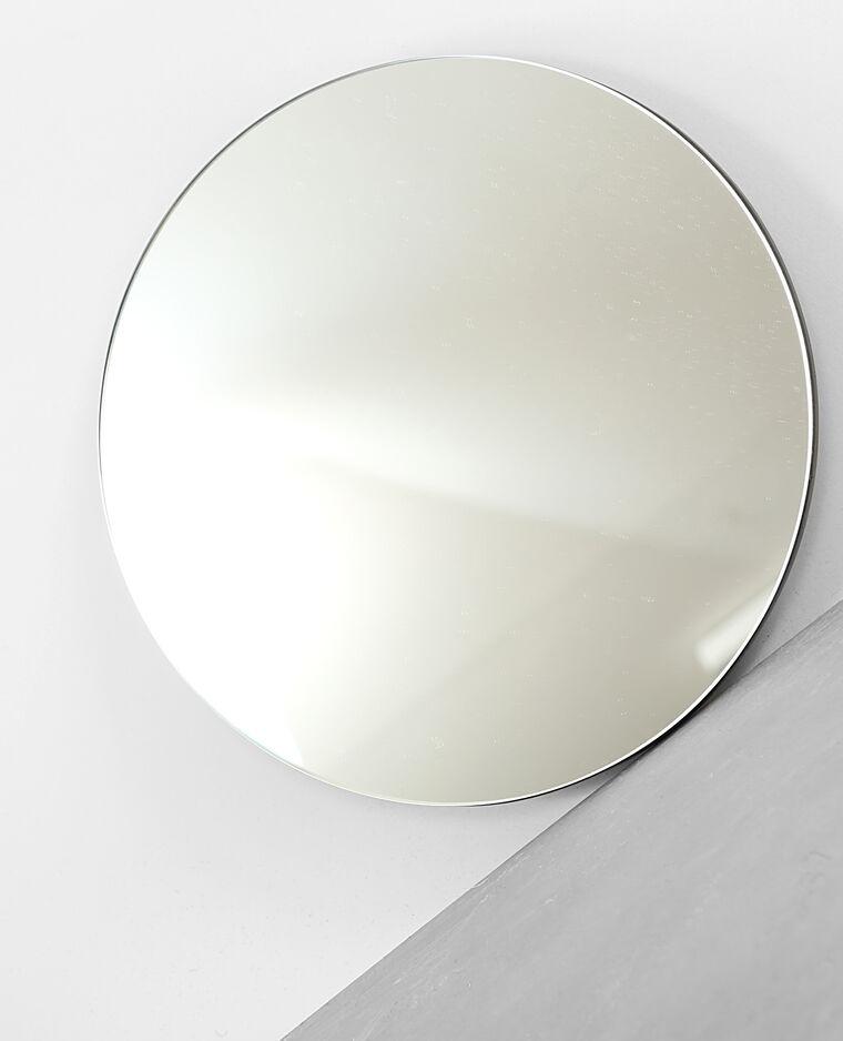 Runder Spiegel Silberig