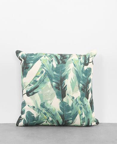 Kissenbezug mit Tropen-Print Grün
